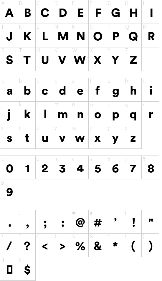 Circular Std Black font character map | Christian Something