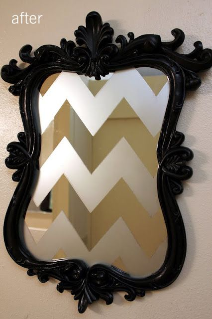 The Sassy Pickle Old Mirrors Frosted Glass Spray Diy
