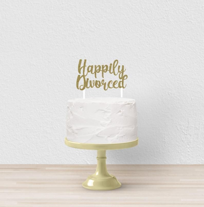 13++ Divorce wedding cake toppers inspirations