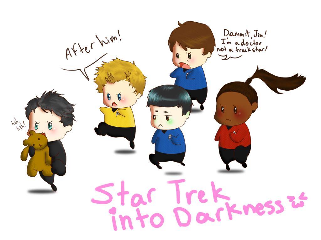 Star Trek into Darkness Chibis!!! Khan stole... a teddy bear?! D'awww.