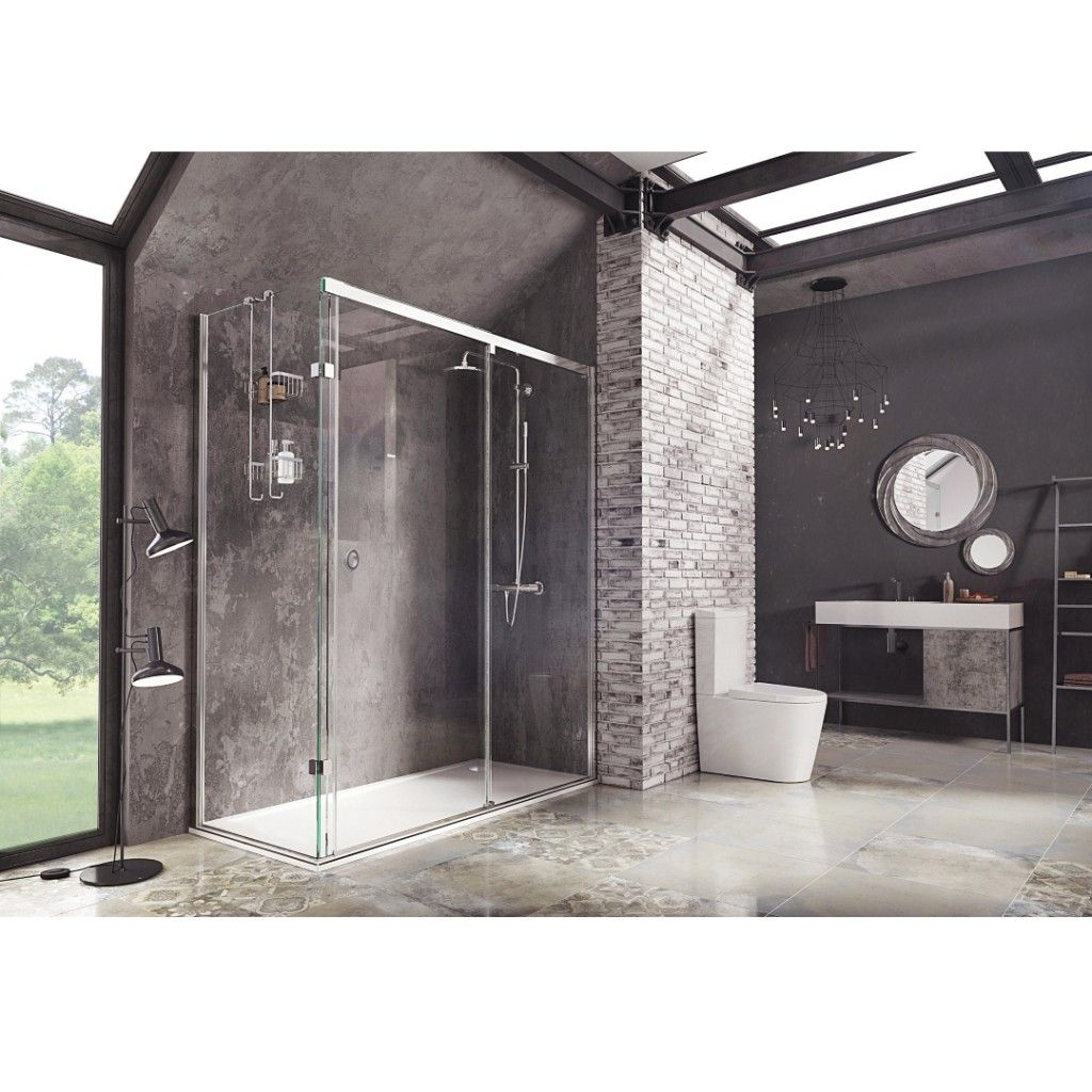 Roman Showers Decem Sliding Door Shower Enclosure Shower