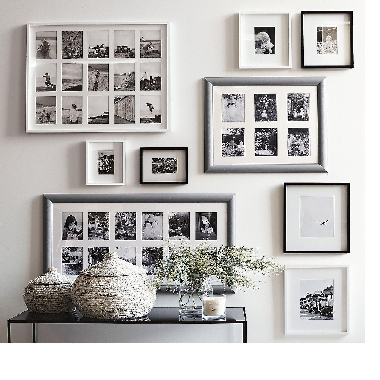 White Multi Photo Frames Wall