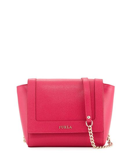 52dc295c0272 FURLA Ginevra Mini Flap Leather Crossbody Bag