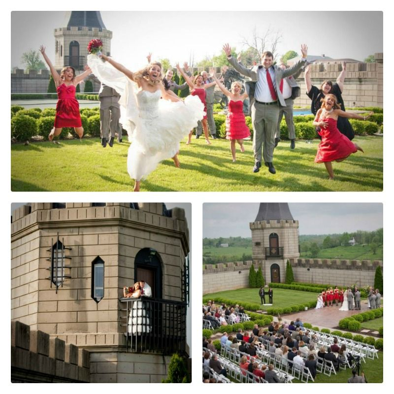 Dreamy Castle Wedding This Was Such A Fun Red And White