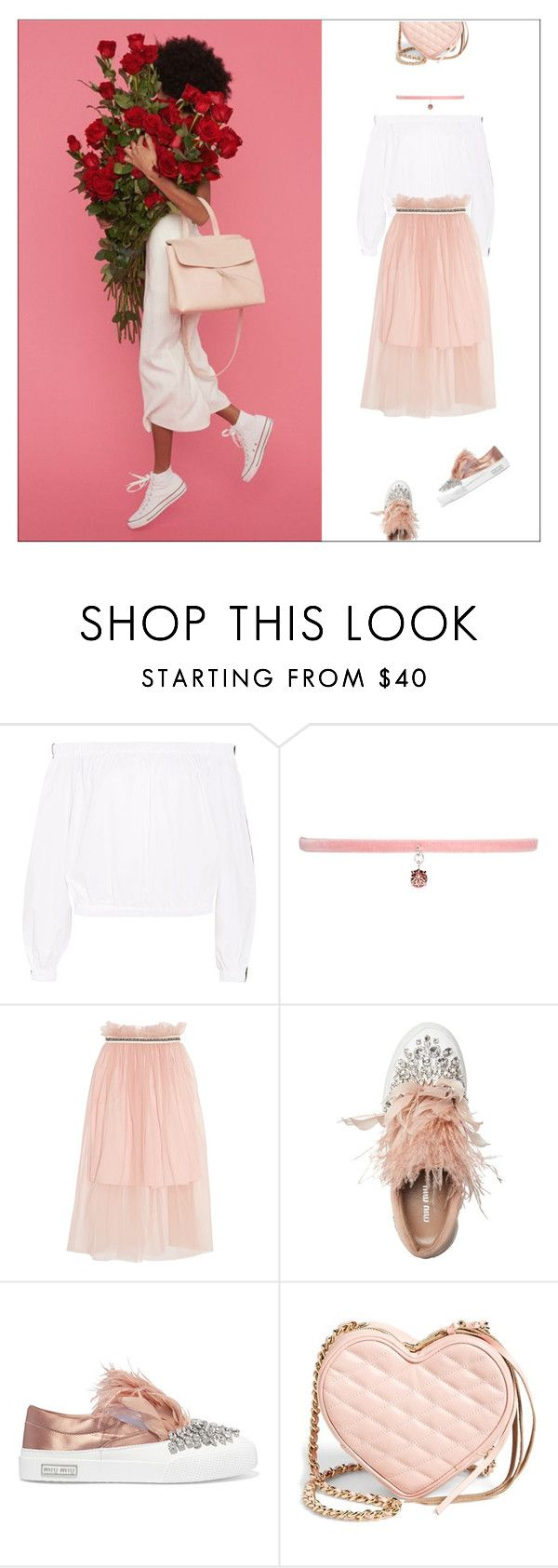 """""""Valentine"""" by shoelover220 ❤ liked on Polyvore featuring Paper London, Joomi Lim, Mansur Gavriel, Mother of Pearl, Miu Miu, Rebecca Minkoff, valentinesday and happyvalentinesday"""
