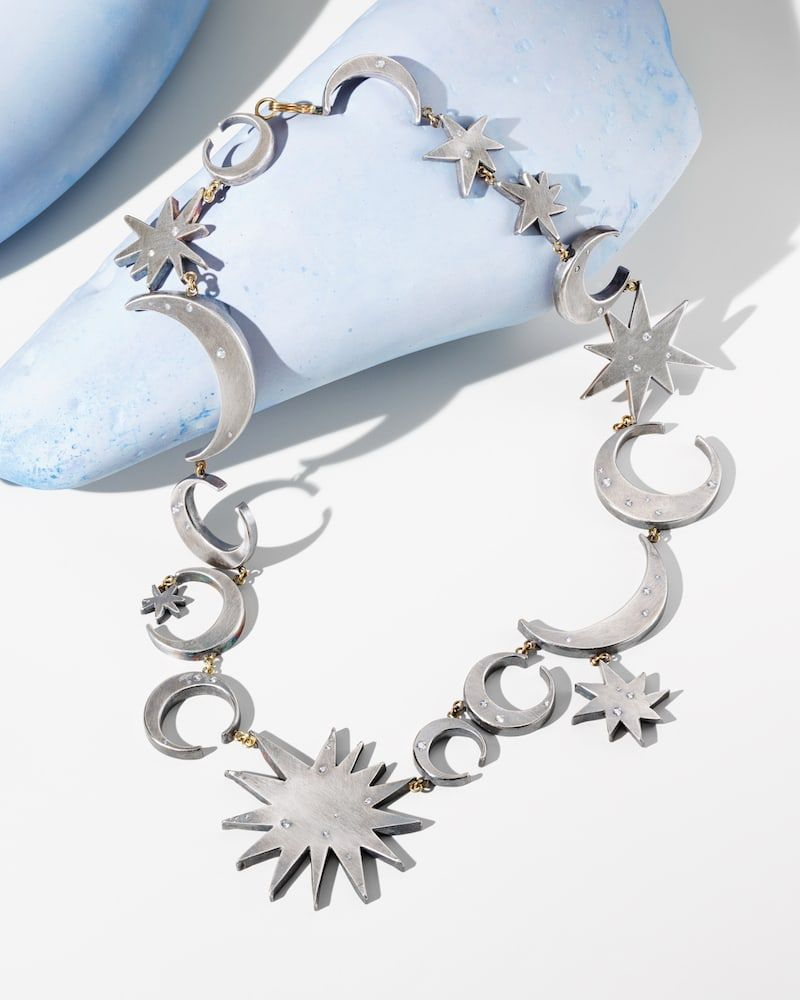 Judy Geib Womens Sun- & Moon-Link Necklace pqWYMDaM
