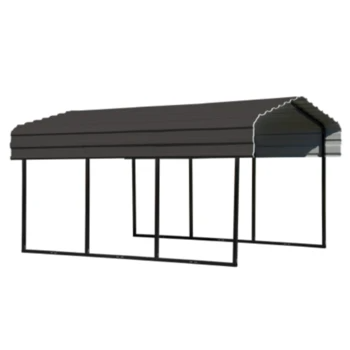 Mygaragedepotstore Products Arrow Cphc101507 Carport 10x15x7 Charcoal Shopify In 2020 Steel Carports Metal Carports Carport Canopy