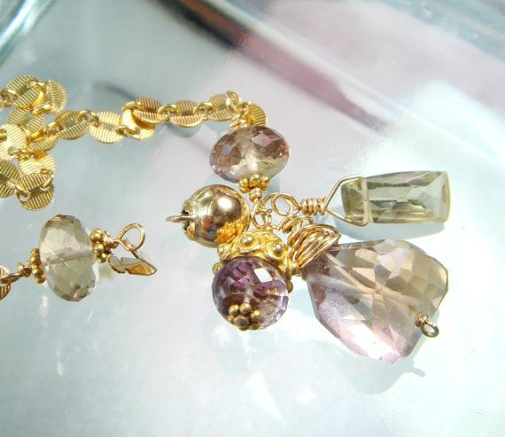 disc gold metaphysical jewelry charms bracelet ametrine gemstone citrine pin aaa