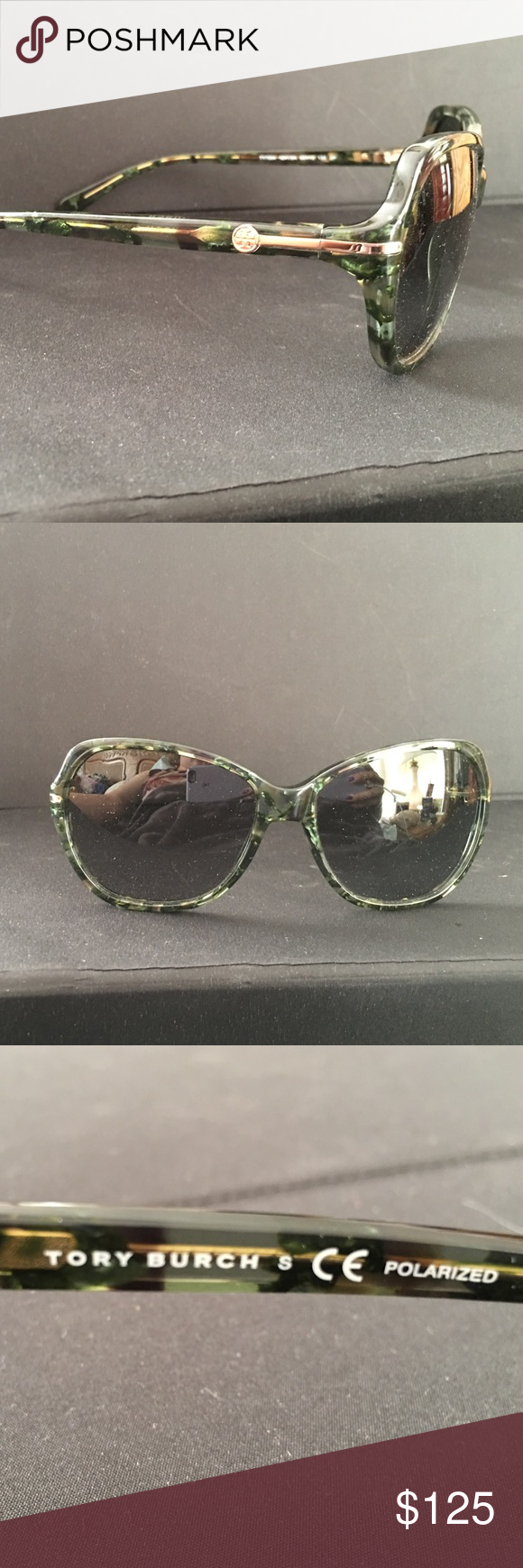 49099183d1c8 FLASH SALE ‼️Tory Burch POLARIZED sunglasses NEW Gorgeous green tortoise  marble Tory Burch sunglasses. NEW. Size 58-15-130. These lenses are  POLARIZED.