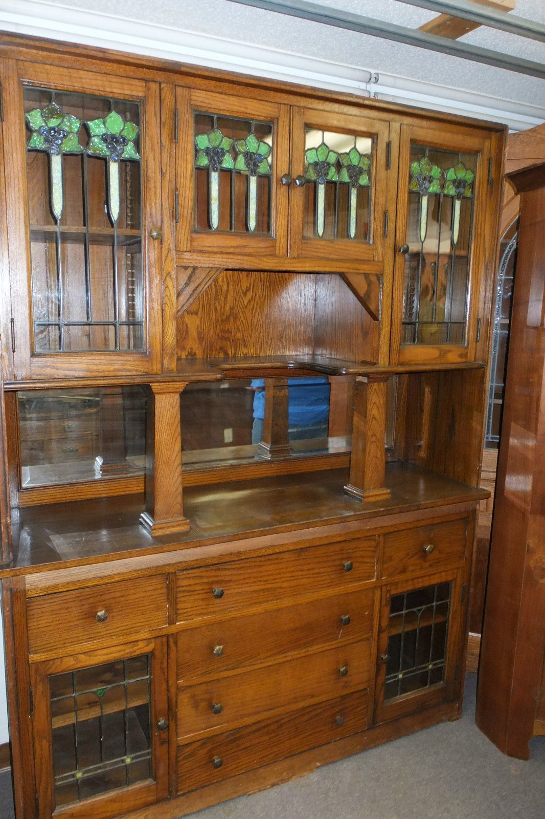 Built in china cabinet - Antique Built In China Cabinet