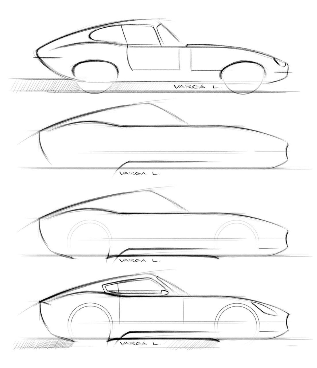 Jaguar E-Type Concept - Design Sketches   載具。   Pinterest ...