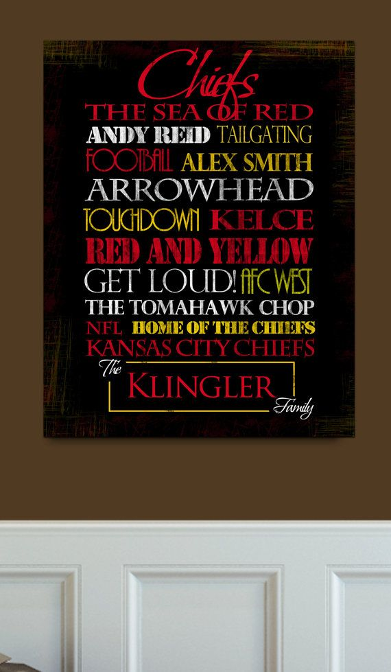 Kansas City Chiefs Print Or Canvas Kc Chiefs Kansas City Chiefs