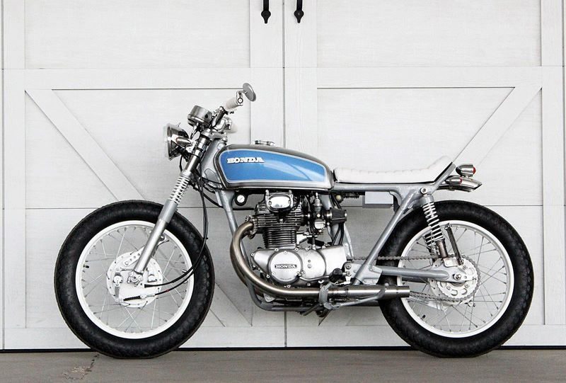 70's CB Honda custom - stripped back, clean, simple and beautiful