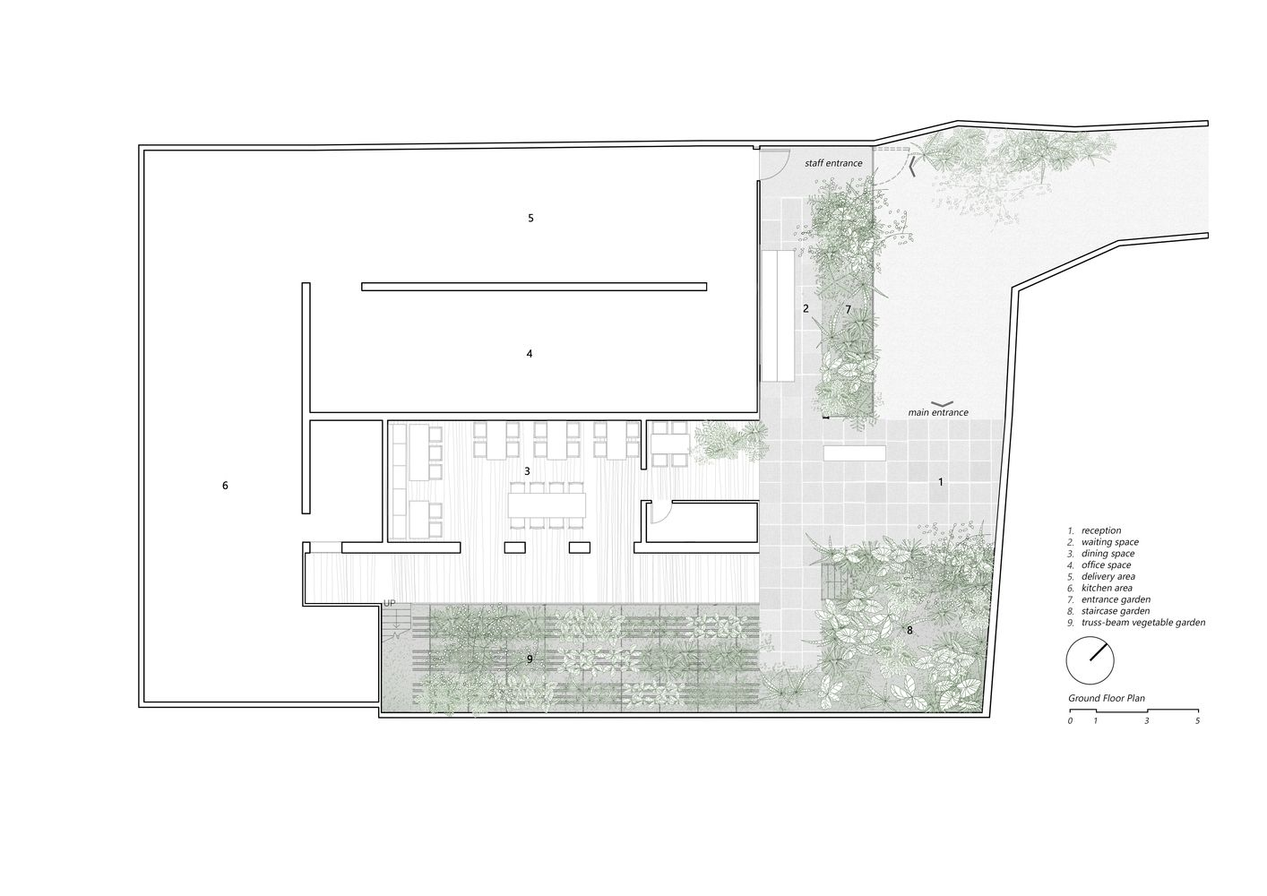 Gallery Of Restaurant Of Shade Nishizawaarchitects 39 Diagrams