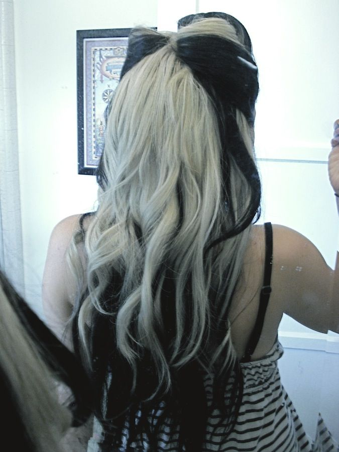 Pin By Tatum Christine On Lovely Locks Black To Blonde Hair Hair Color For Black Hair Black And Blonde