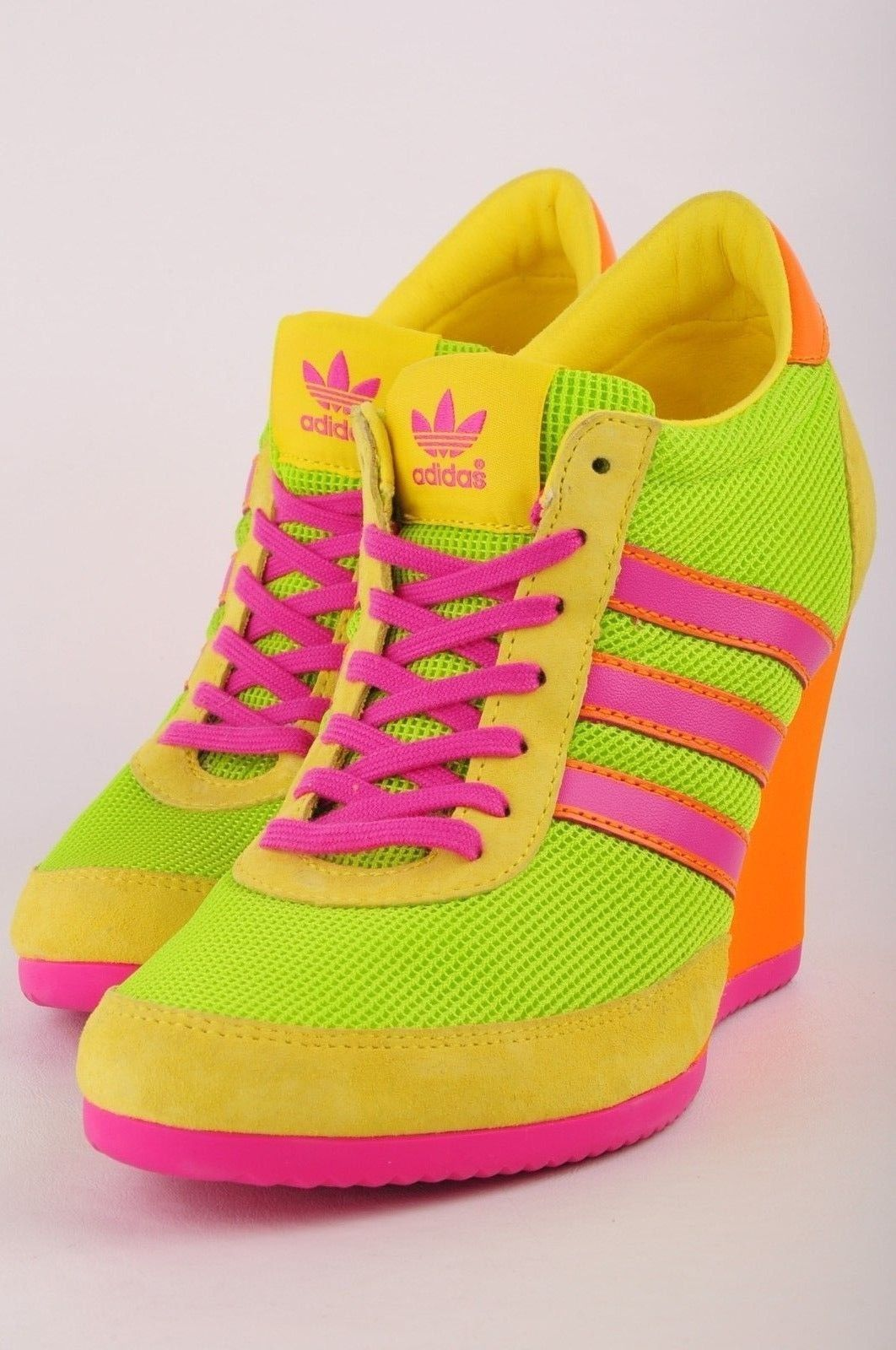 wholesale dealer 1ddd2 17895  200 Adidas Originals Jeremy Scott Arrow Wedge Neon Women s US 8   eBay