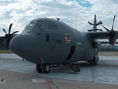 C130 on the military apron at MDT.
