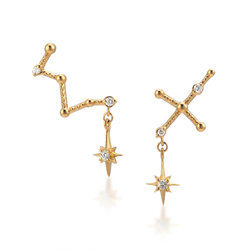 ピアスDIAMOND CONSTELLATION PIERCED EARRINGS(2ZP1516)|スタージュエリー公式オンラインストア #constellationpiercing