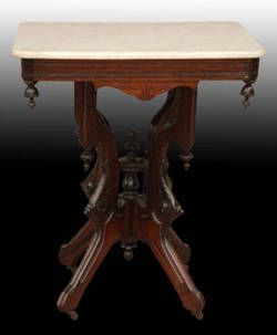 Antique Marble Top Victorian Table C 1800 S
