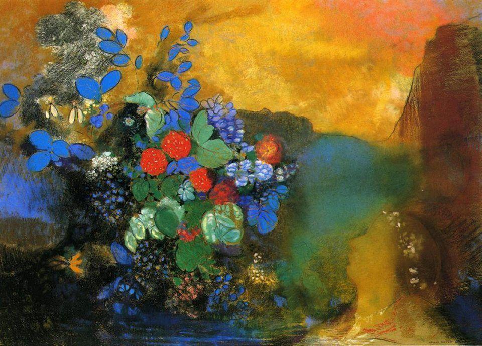 Odilon Redon (1840-1916), Ophelia, 1905