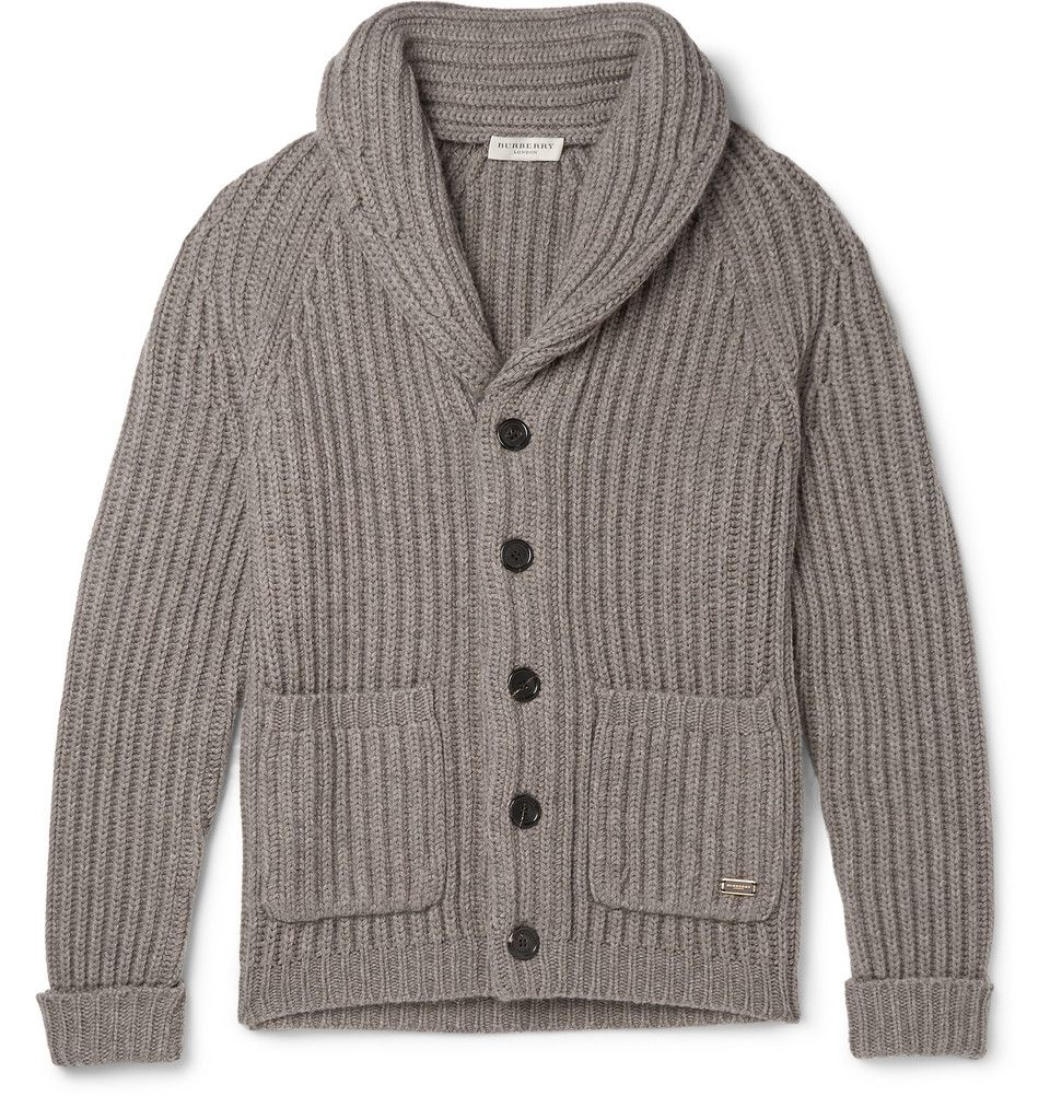 Burberry London - Cowper Slim-Fit Shawl-Collar Wool and Cashmere-Blend  Cardigan