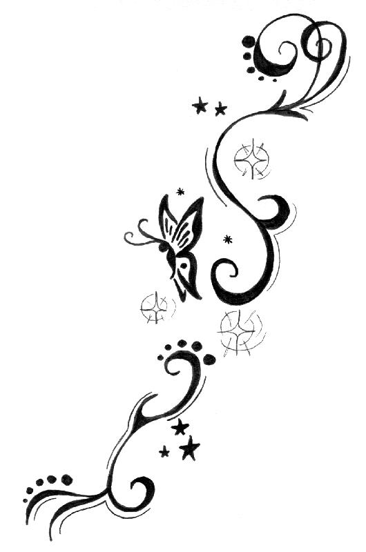 Tatouage papillon 1458859977534 tatouage pinterest - Dessin petit papillon ...