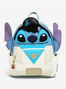 Loungefly Disney Lilo & Stitch Elvis Stitch Figural Mini Backpack