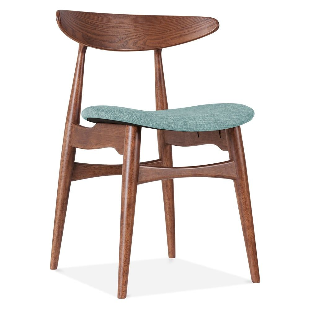 affordable upholstered dining chairs christmas hat chair covers cult living malmros walnut soft teal