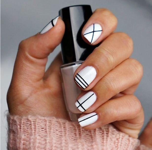 Monochrome Criss Cross
