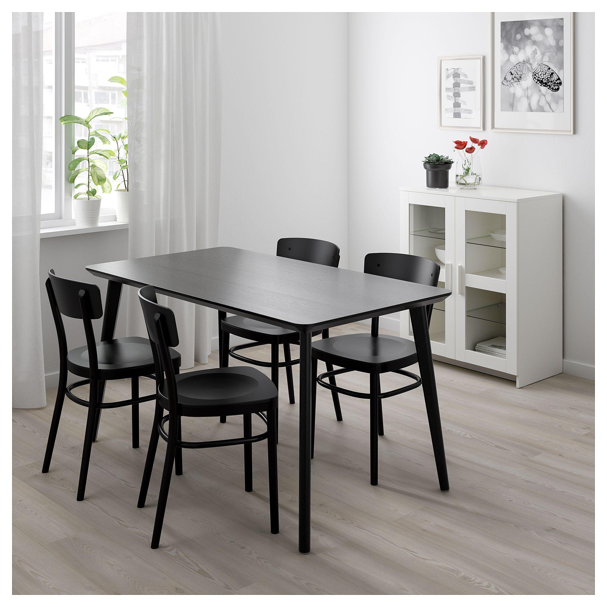 Lisabo Idolf Tisch Und 4 Stuhle Schwarz Schwarz In 2019