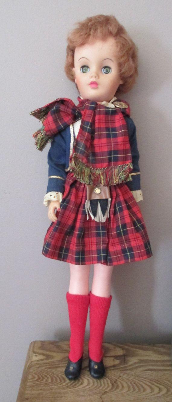1960's Bonnie the Plaid Lassie Doll 20  MacDonald by AStringorTwo, $24.00