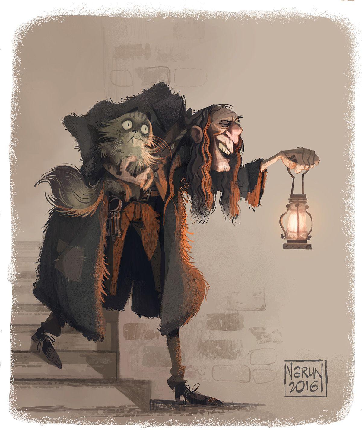 Argus Filch Harrypotter Character Design On Behance Harry Potter Illustrations Harry Potter Drawings Harry Potter Artwork