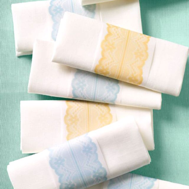 Lace Napkin Holders Wedding Thoughts Of Cute Pinterest Napkin