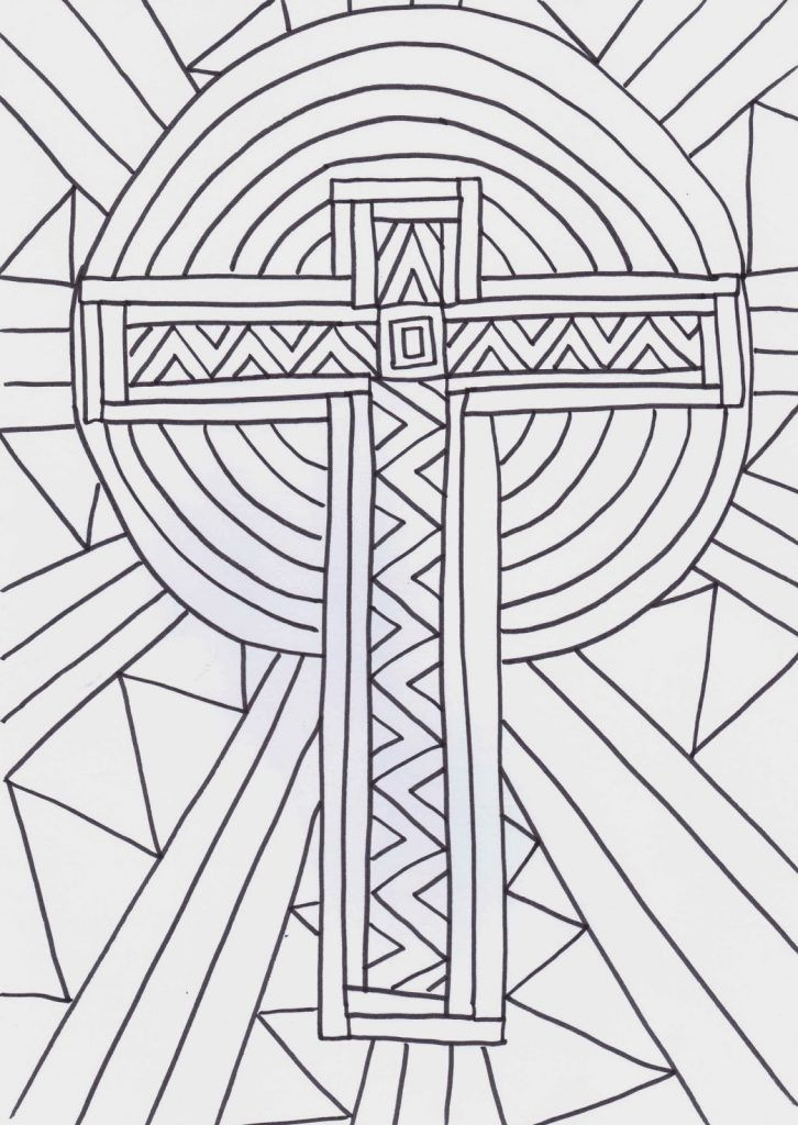 Cross Coloring Pages (With images) | Cross coloring page ...