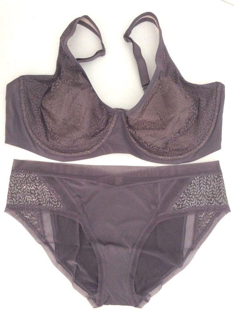d238f112bf NEW Victoria Secret Unlined Lace Demi Bra Body By Sheer Panty Set 40DDD XL  NWT  VictoriasSecret  Demis
