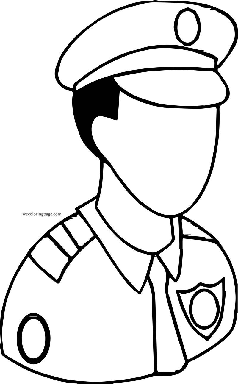 Captain Police Coloring Page