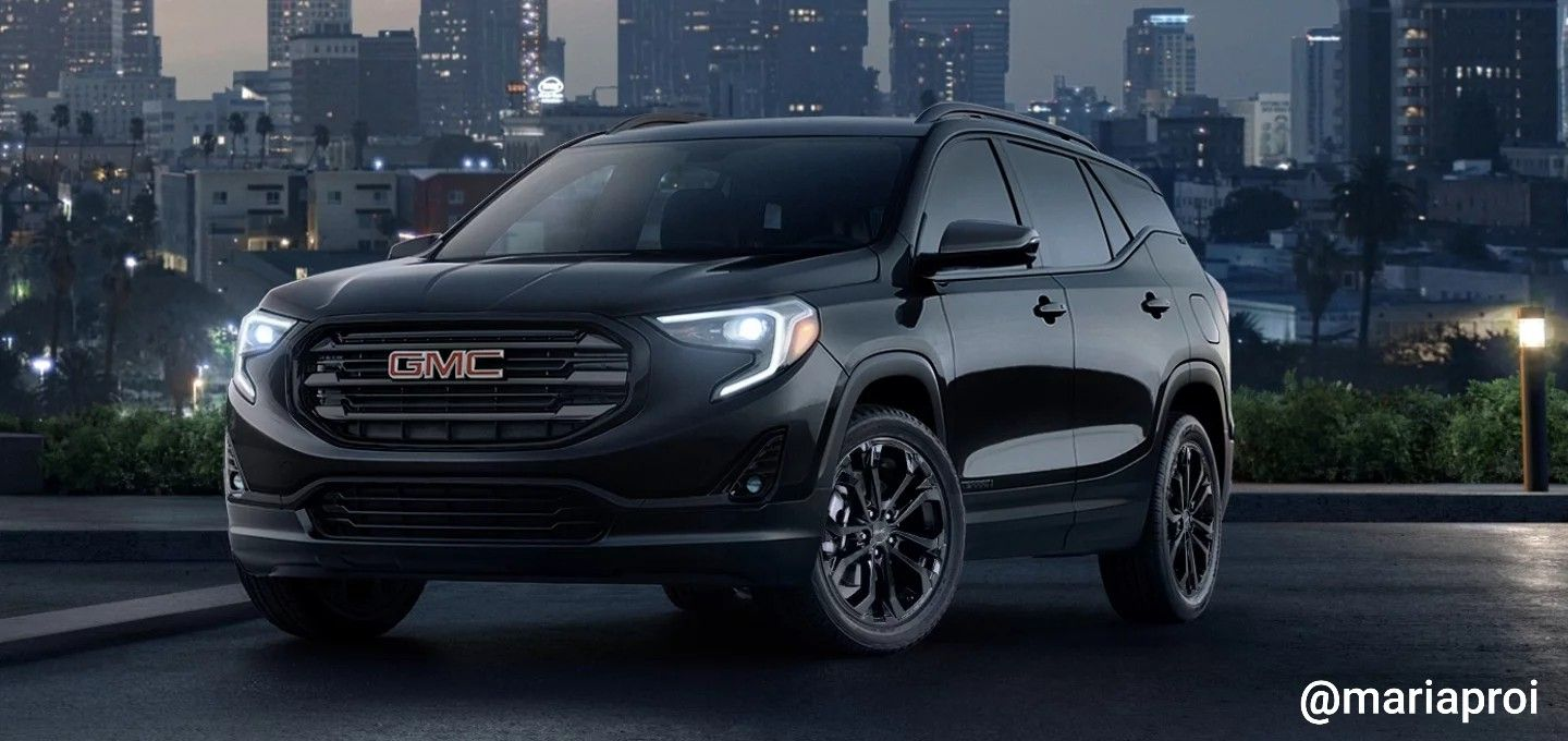 The 2019 Gmc Terrain Slt In The Sinister Looking Black Edition In Ebony Twilight Metallic With A Jet Black Interior Gmc Likeapro A Gmc Terrain Gmc Car