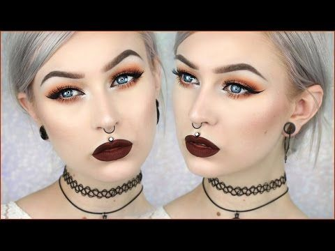 90 39 S Grunge Glam Autumn Leaves Makeup Evelina Forsell