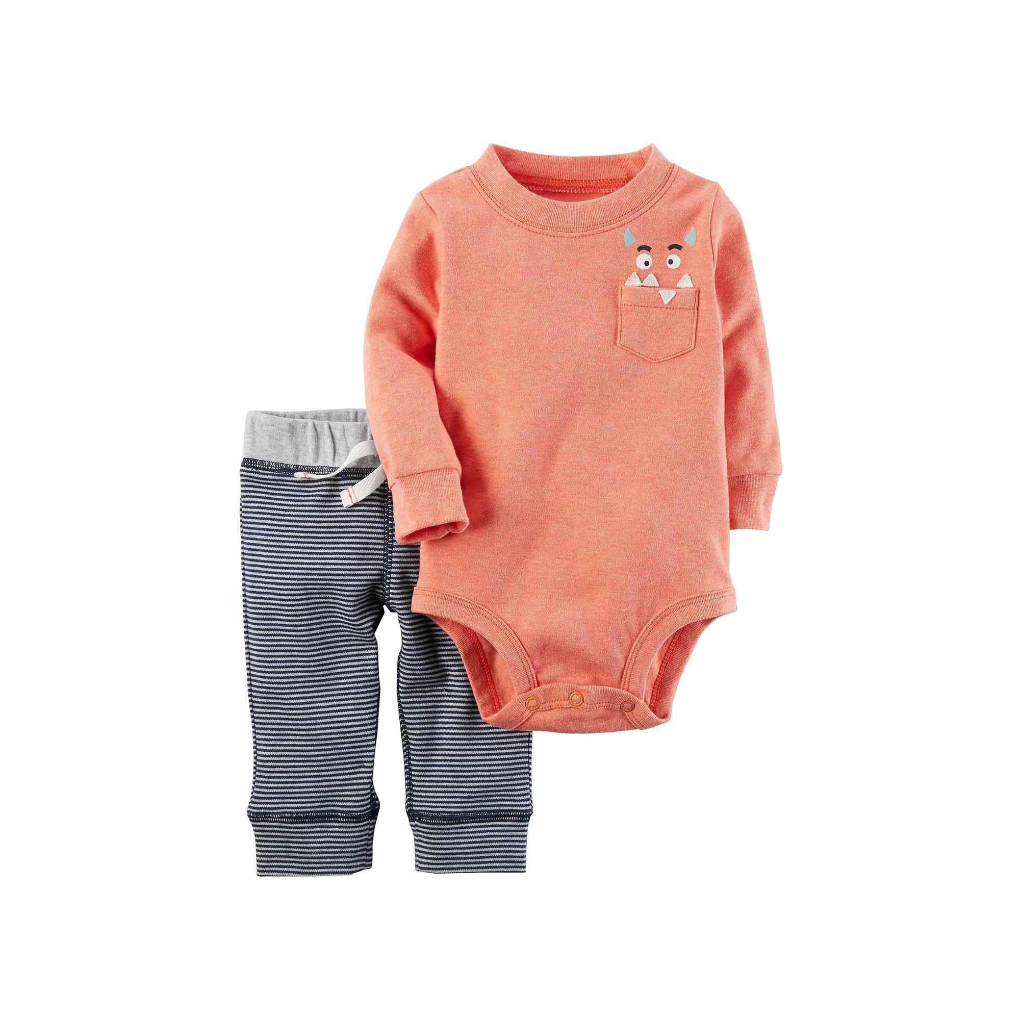 f7e674eba Baby Boy Carter's Monster Bodysuit & Pants Set | Products | Carters ...