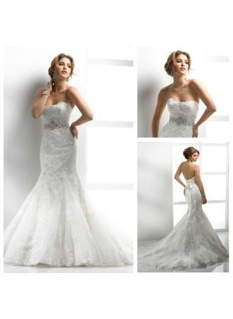 Best Selling Mermaid Style Sweetheart 2013 Beautiful Lace Wedding Dresses Online