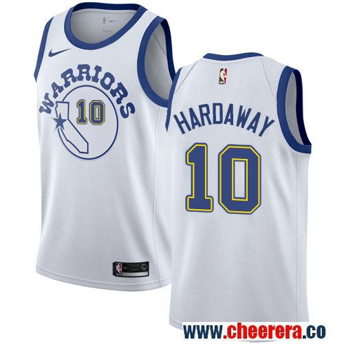02ee5831530 Golden State Warriors  10 Tim Hardaway White Nike NBA Men s Jersey Hardwood  Classics