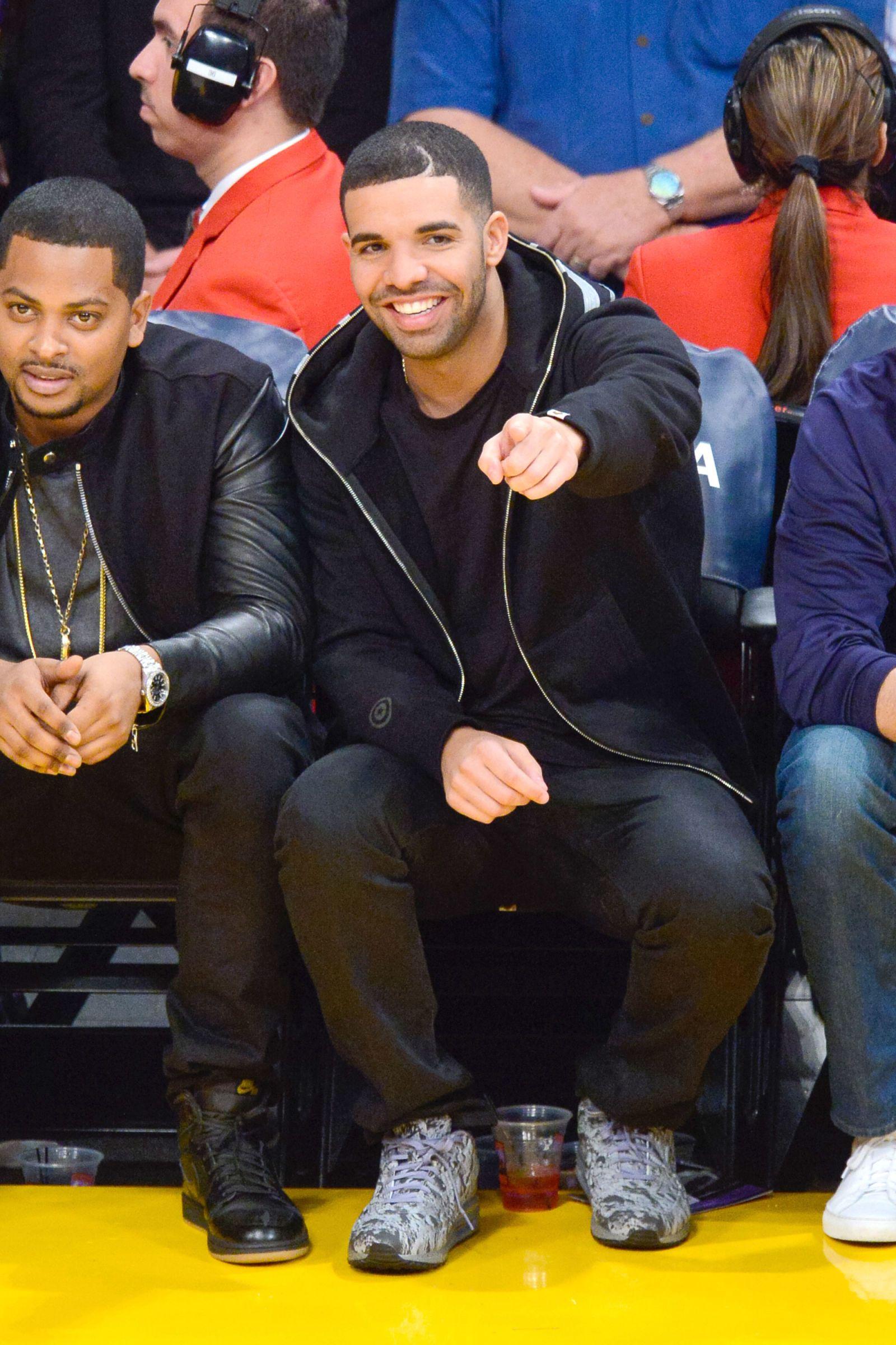 Celebrities Doing Things J Cole And Drake Aubrey Drake Old Drake