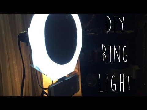RING LIGHT DIY // Affordable Video Lighting Video