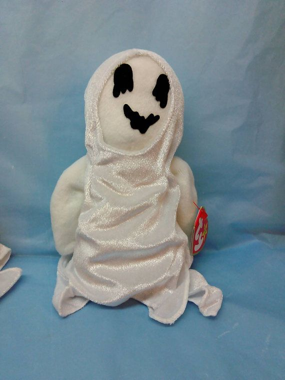 bebc551f7c1 SHEETS GHOST Ty Original Beanie Baby plush toy white black rare retired  collectible Like new never displayed Halloween Fall spooky fun