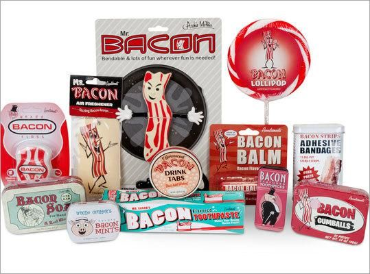 For Father's Day! LOL This bacon collection will fill every void in your bacon-loving dad's life. It comes with bacon lollipops, bacon soap, and bacon air fresheners.