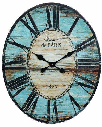 Antiquite De Paris Wood Oval Wall Clock Everything Turquoise Paris Wall Clock Oversized Wall Clock Wood Wall Clock