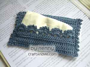 Free Knitting Pattern For Tissue Holder : Free Pattern: Travel Tissue holder. This looks so easy it ...