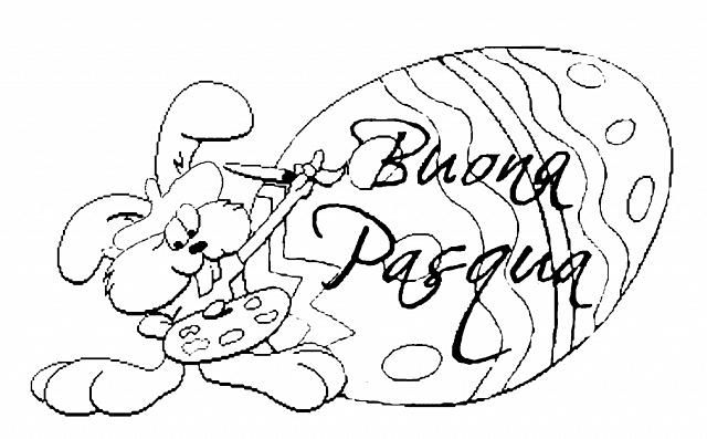 Coniglietto Che Scrive Buona Pasqua Disegno Da Colorare Disegni Da