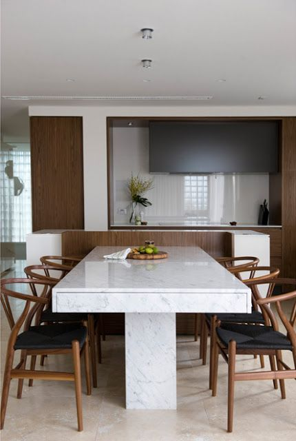 Minosa Design Small Space Becomes A Large Kitchen Thru Clever Design Soluti Kitchen Island With Table Attached Dining Table Marble Kitchen Island Dining Table