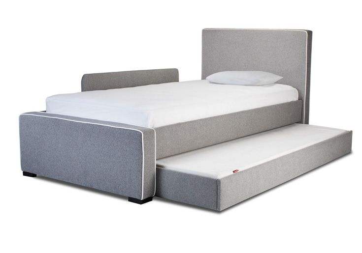monte design furniture modern dorma upholstered twin bed with trundle and guard rail heather